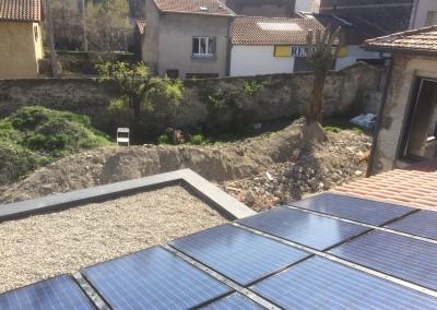 Toit – panneaux solaires